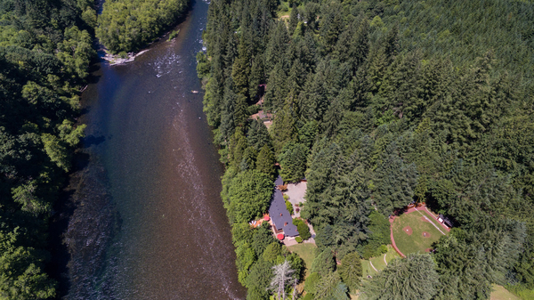 Image Aerial View of River and Property