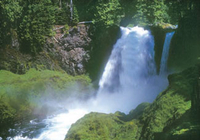 Image Sahalie and Koosah Falls